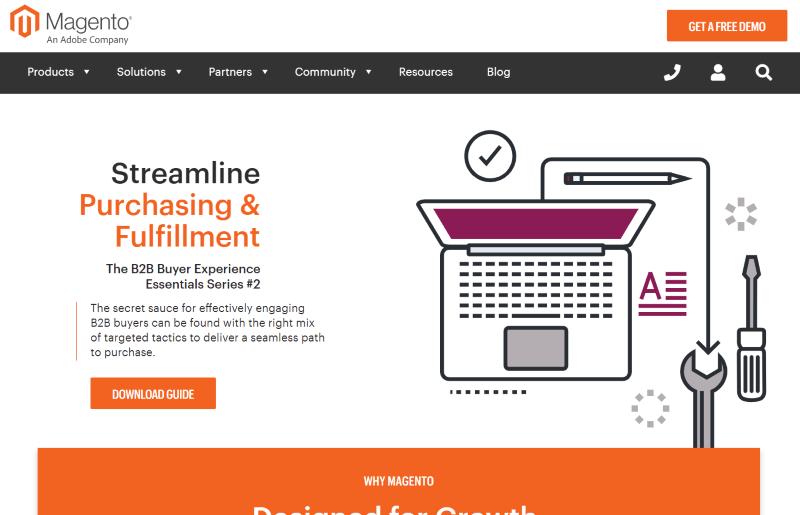 онлайн магазин Magento