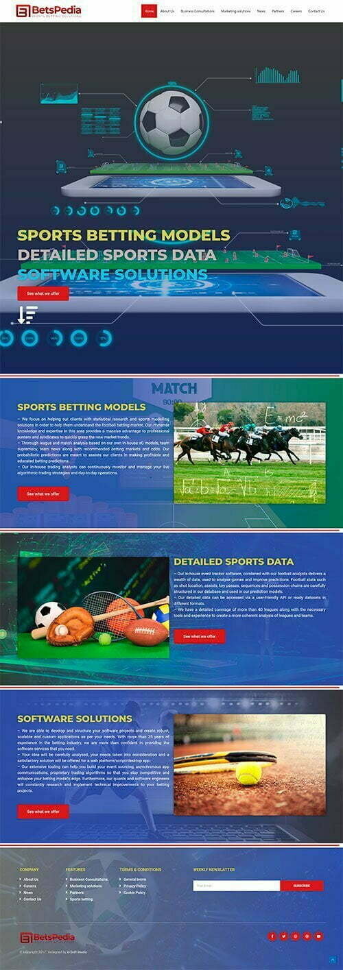Сайт за спортни залози и консултации BETSPEDIA 1